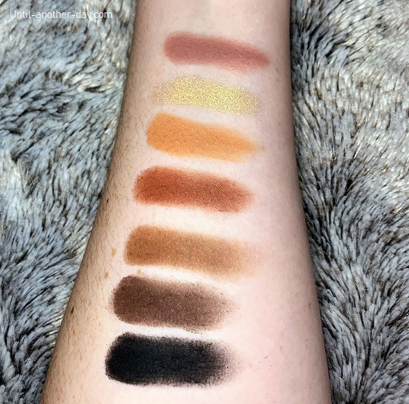Anastasia Second Row Swatches