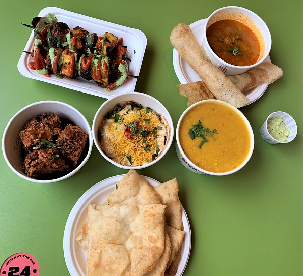 Bundobust Liverpool Combo for two. Veggie Indian Street Food