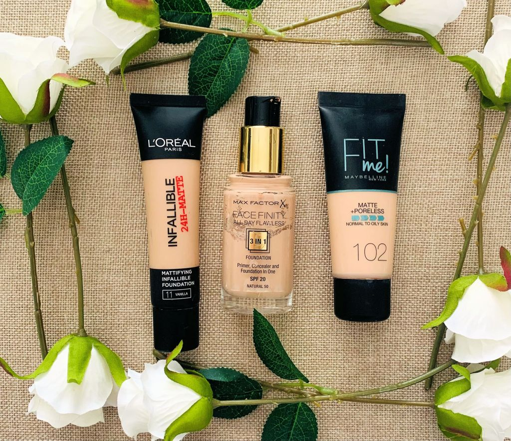 Drugstore/Affordable Foundations for Oily Skin.