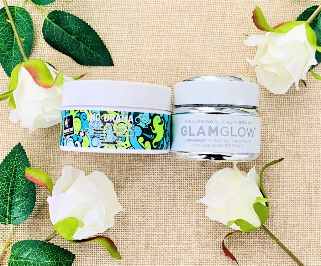 Funderm No Drama Red Clay Mask and Glamglow Supermud Clearing Treatment