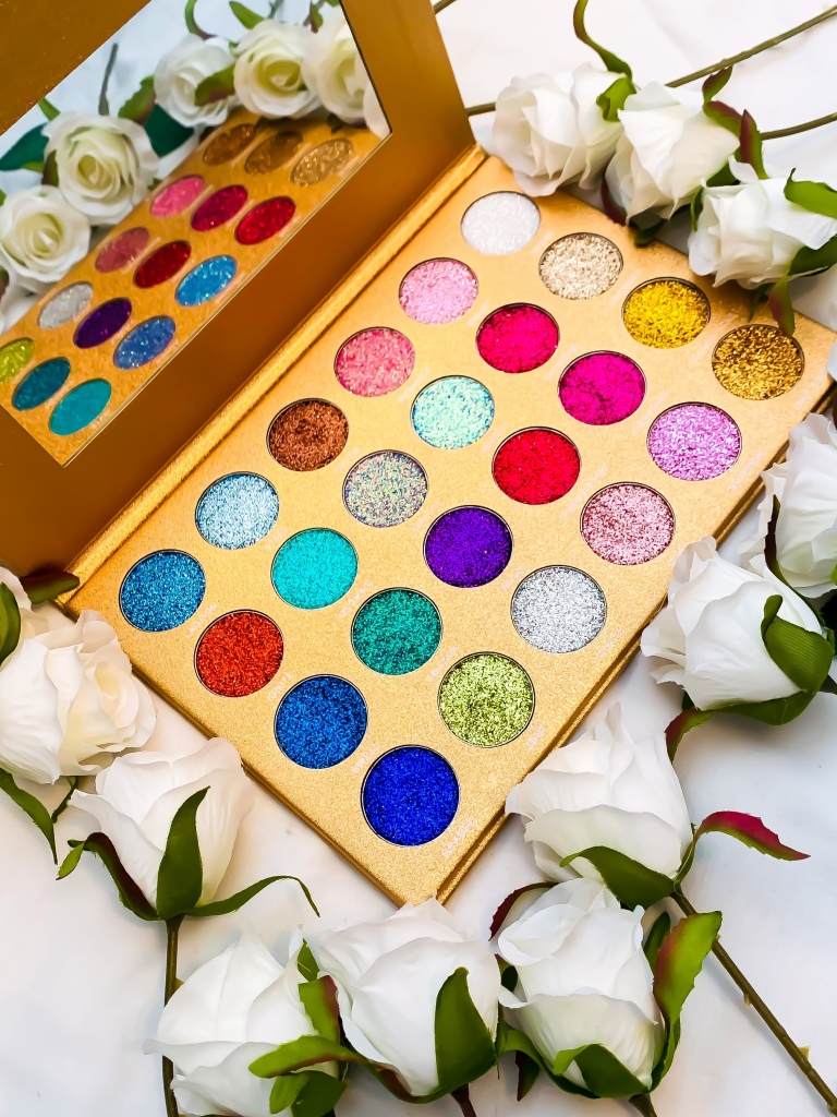 Jolie Beauty Bomb Dot Com Glitter Eyeshadow Palette