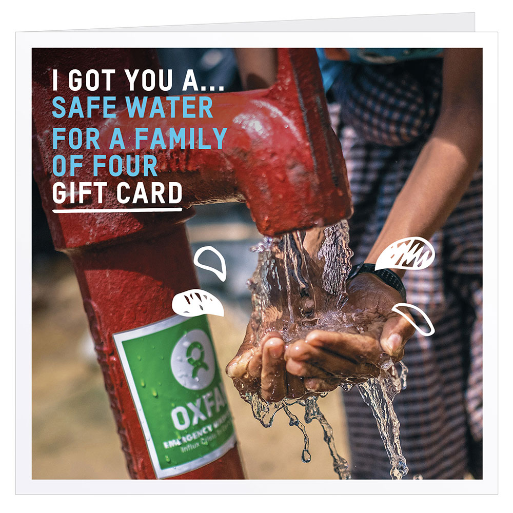 Oxfam Safe Water for a Family of Four Gift Card
