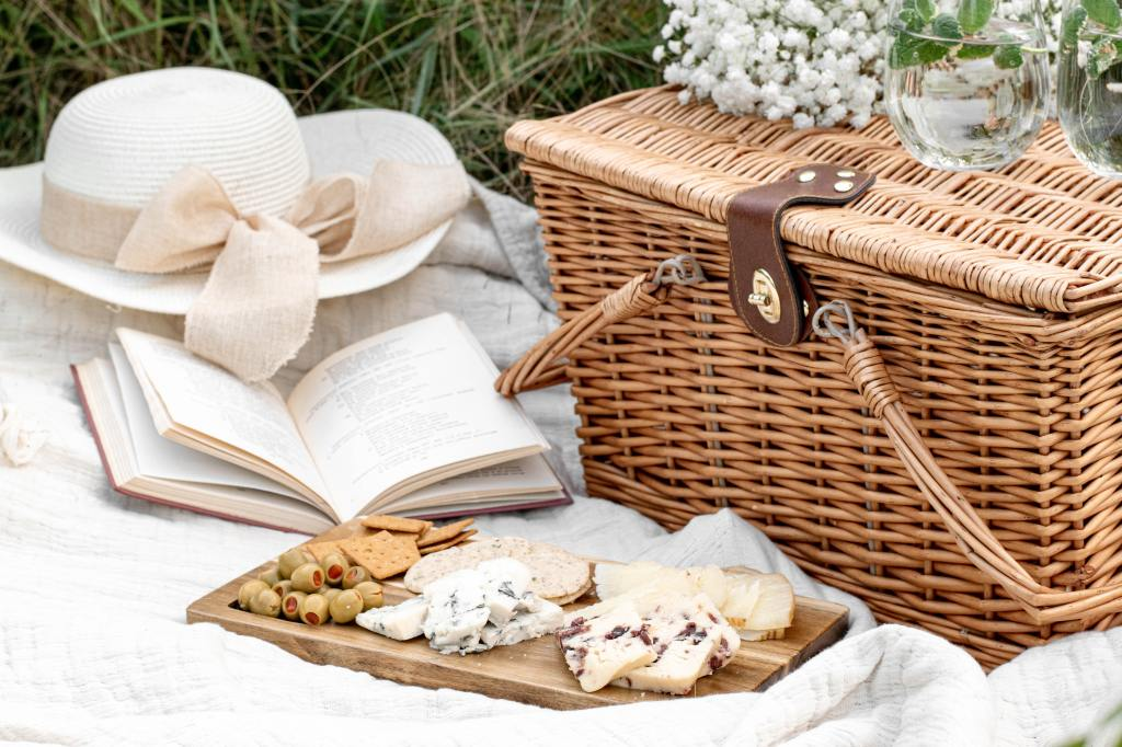 Picnic Basket and Cheese Board