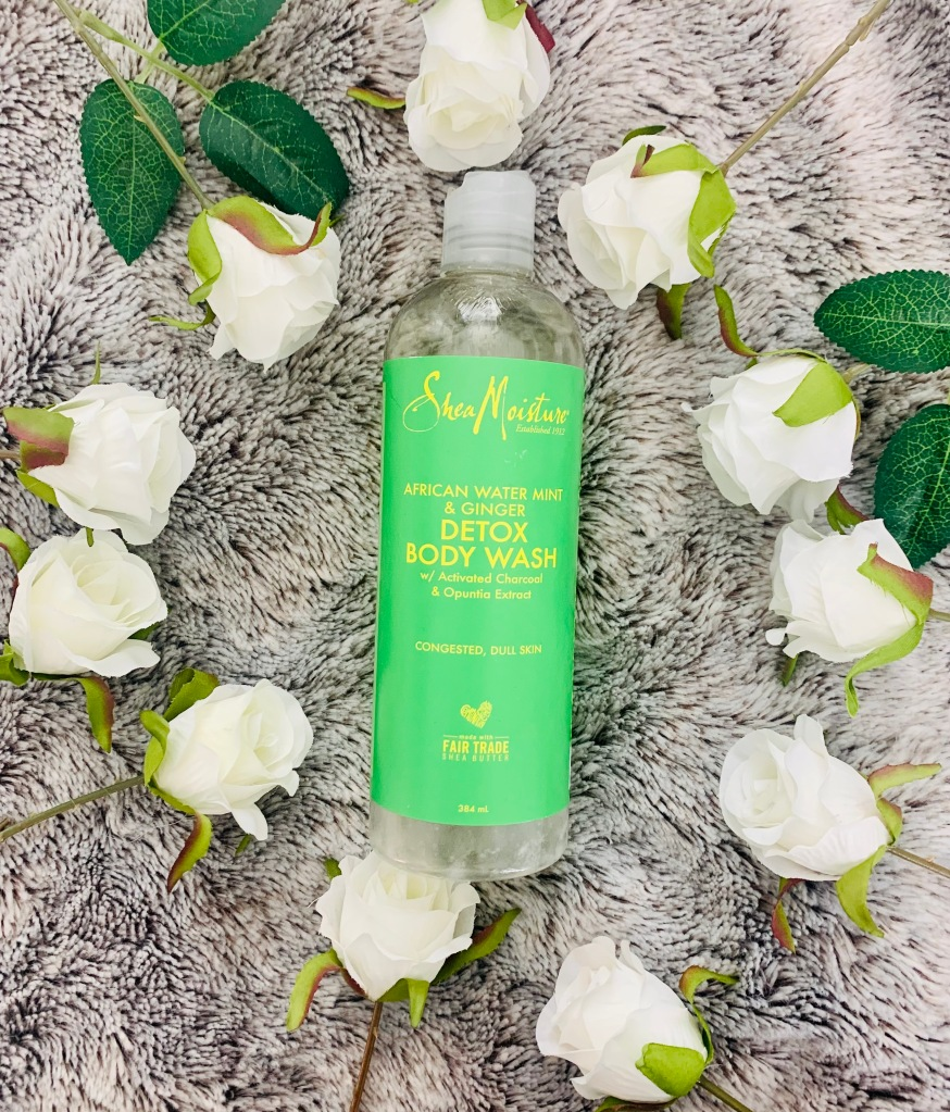 Shea Moisture African water mint and ginger detox body wash