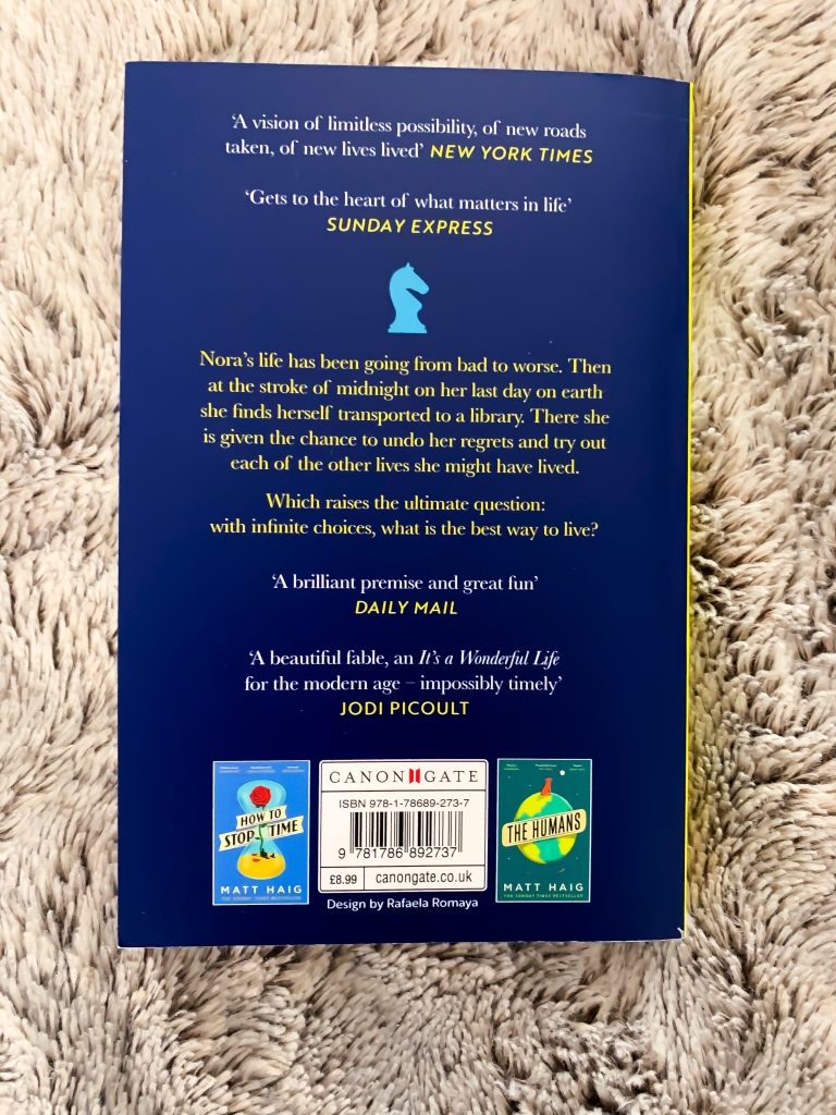 The Midnight Library Back Cover Blurb